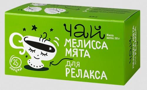 Зеленый чай с мятой и мелиссой