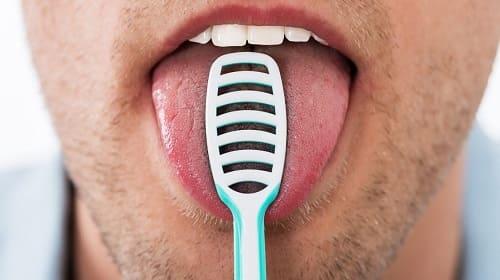 Как очистить язык от налета